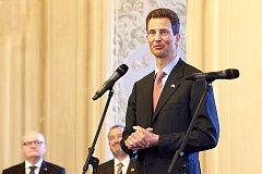 Princ Alois z Lichtenštejna při oficiálním zahájení činnosti Česko-lichtenštejnské společnosti