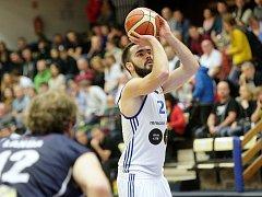Basketbalisté Brna v zápase proti Prostějovu