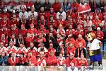 Bratislava 21.5.2019 - Mistrovství světa v Bratislavě - skupina B - Česko v bílém proti Švýcarsku v červeném