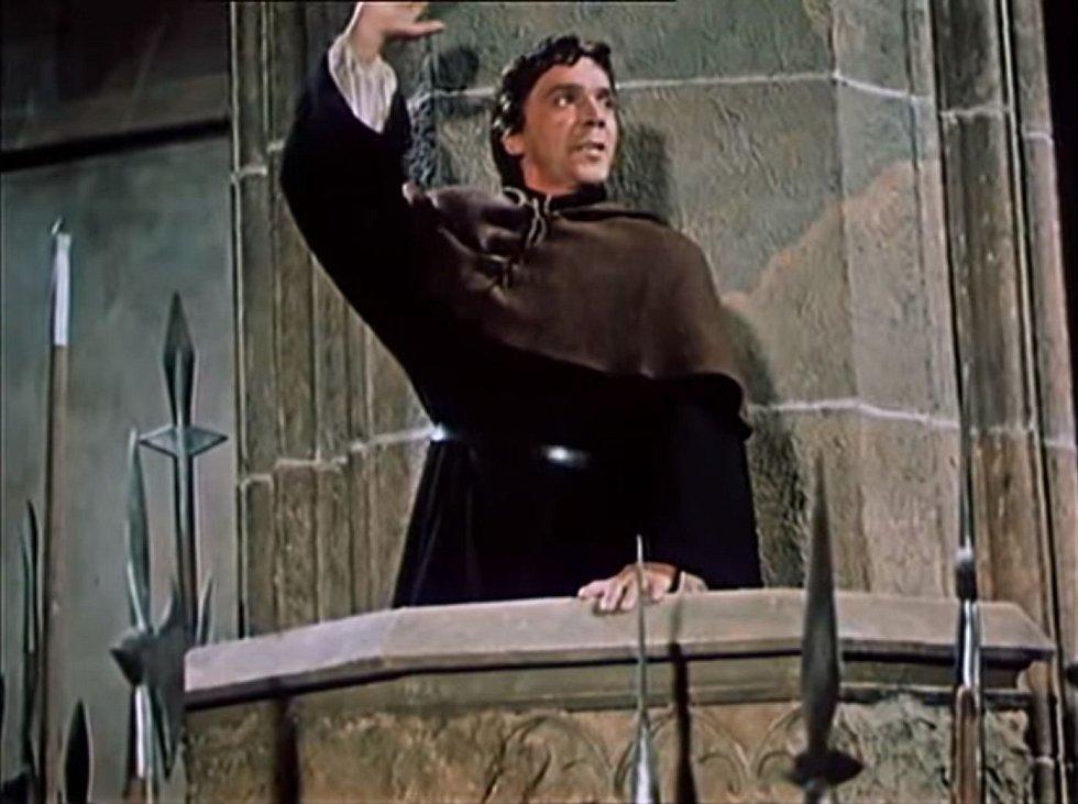 Jan Želivský v představě tvůrců filmu Jan Žižka z roku 1955