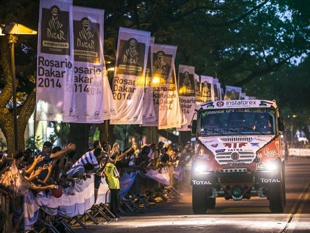 Aleš Loprais s tatrou na Rallye Dakar 2014.