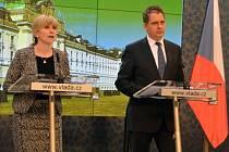 Kateřina Valachová a Jiří Dienstbier