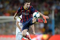Fotbalový čaroděj z Barcelony Lionel Messi.