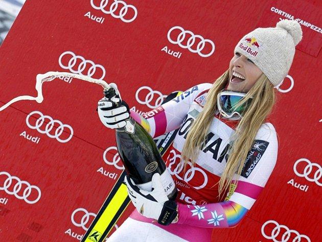 Lindsay Vonnová se stala nejúspěšnější lyžařkou historie Světového poháru. Připsala si 63. vítězství.