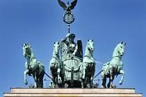 Berlín, Brandenburská brána.