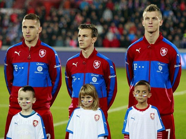 Čeští fotbalisté (zleva) Pavel Kadeřábek, Vladimír Darida a Tomáš Necid.