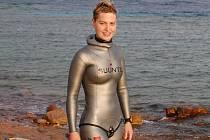 Jarmila Slovenčíková během mistrovství světa ve freedivingu v Egyptě.