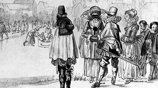 Fridrich Falcký s rodinou v roce 1622 v nizozemském azylu