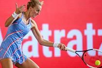 Česká tenistka Petra Kvitová v semifinále  exhibičního turnaje v Berlíně.