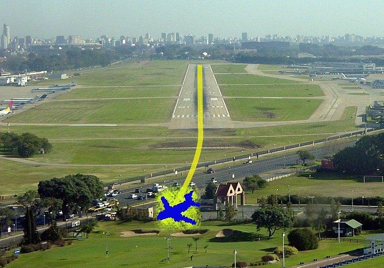 Nezdařený start letu LAPA 3142
