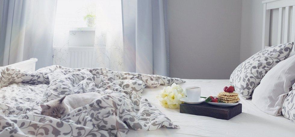 Valentýnské ráno je výbornou příležitostí pro společnou snídani třeba v posteli.