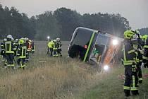 Nehoda autobusu v Německu