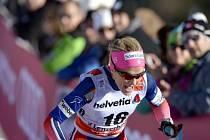 Therese Johaugová při sprintu na Tour de Ski