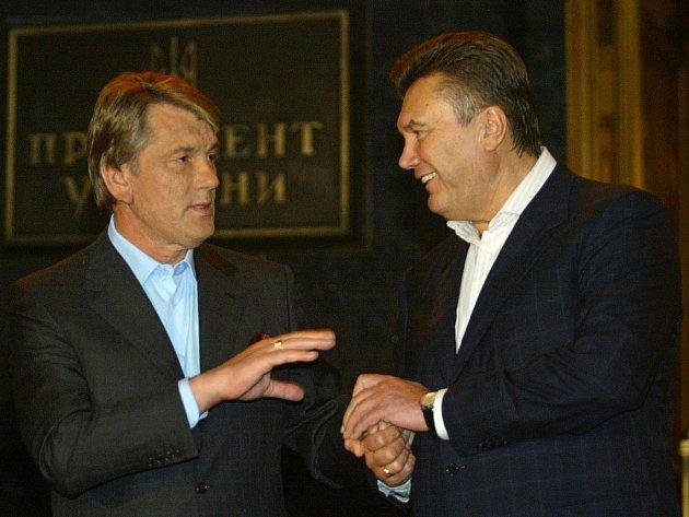 Viktor Juščenko a Viktor Janukovyč