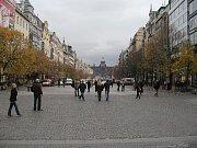 Václavské náměstí, pohled od Můstku