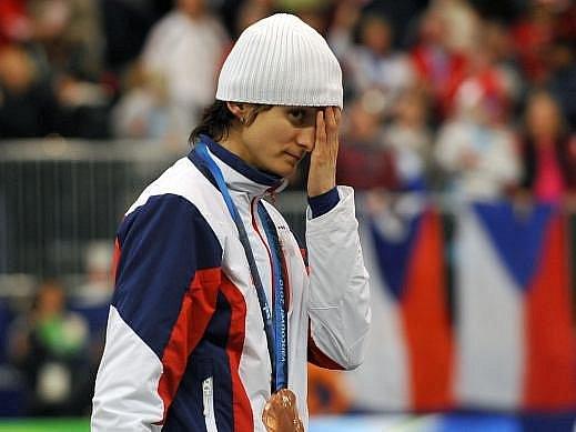 Jakoby Martina Sáblíková nevěřila, že právě získala další medaili.