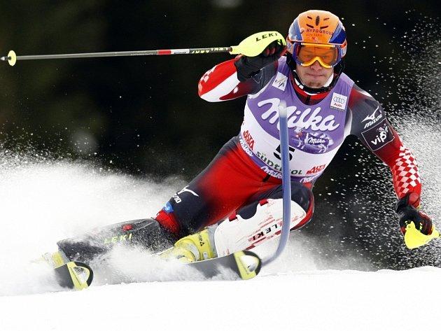 Ivica Kostelič vyhrál pondělní slalom v italském středisku Alta Badia.