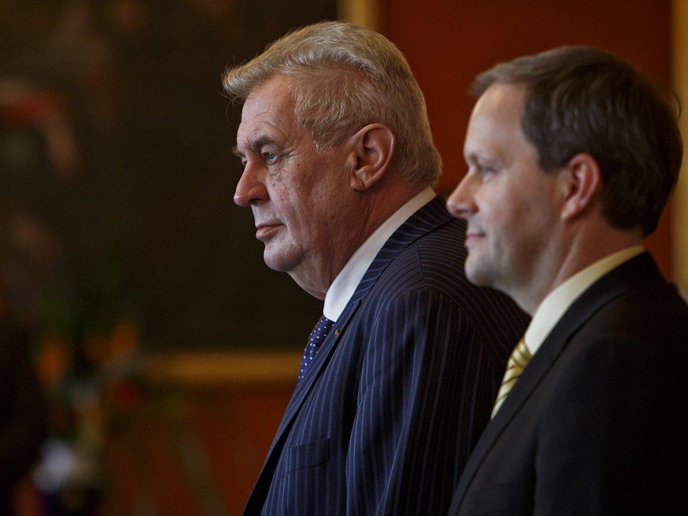 Miloš Zeman a Marcel Chládek