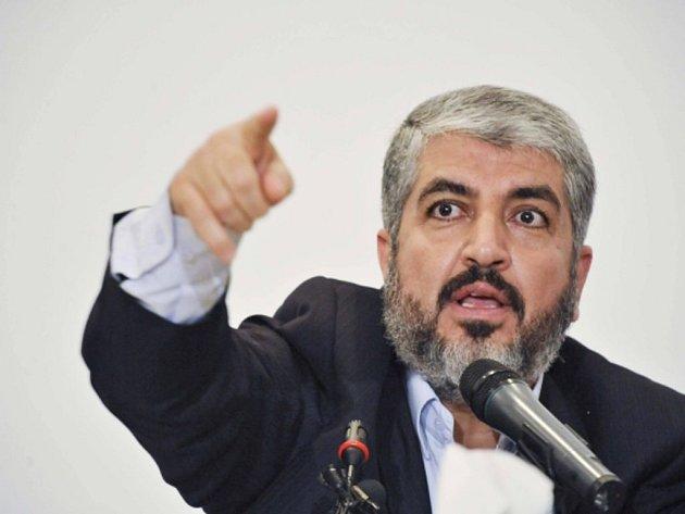 Exilový vůdce palestinského Hamasu Chálid Mišal.