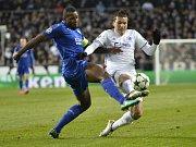 Fotbalisté Leicesteru (v modrém) proti Kodani.