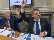 Ministři Chovanec a Zaorálek na schůzi vlády.