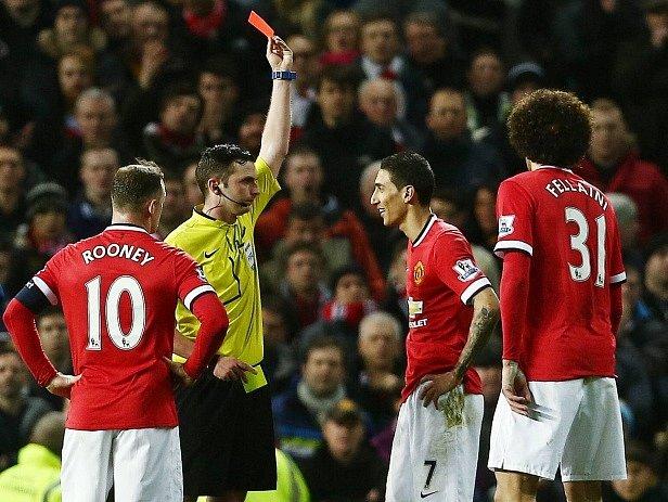 Ángel Di María a jeho reakce na červenou kartu
