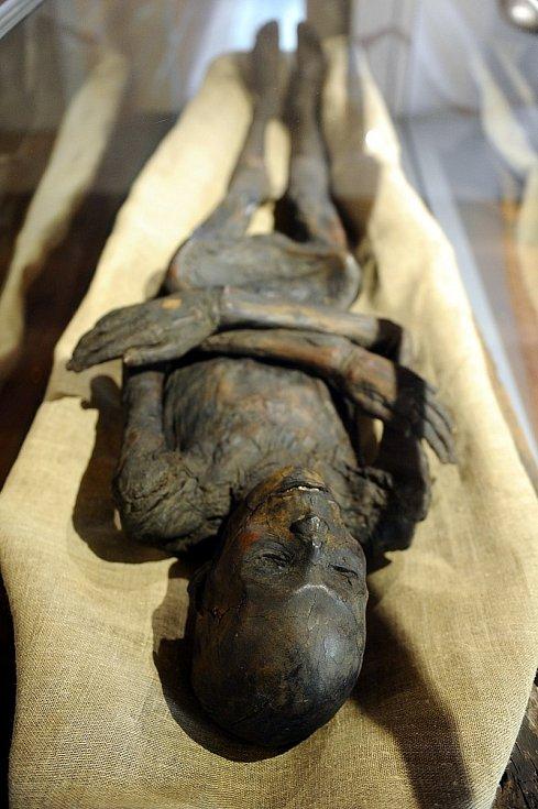Jedna z mumií v italském Turíně.