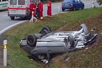 Nehoda na dálnici D1 u Devíti křížů.