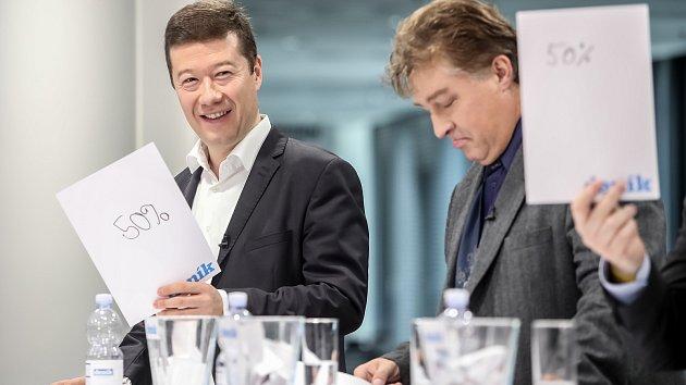 Předvolební debata Deníku: Tomio Okamura, Jiří Dolejš