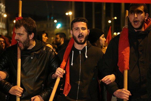 Protesty v Aténách