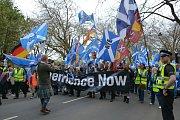 Pochod za nezávislost Skotska v květnu 2018 v Glasgow