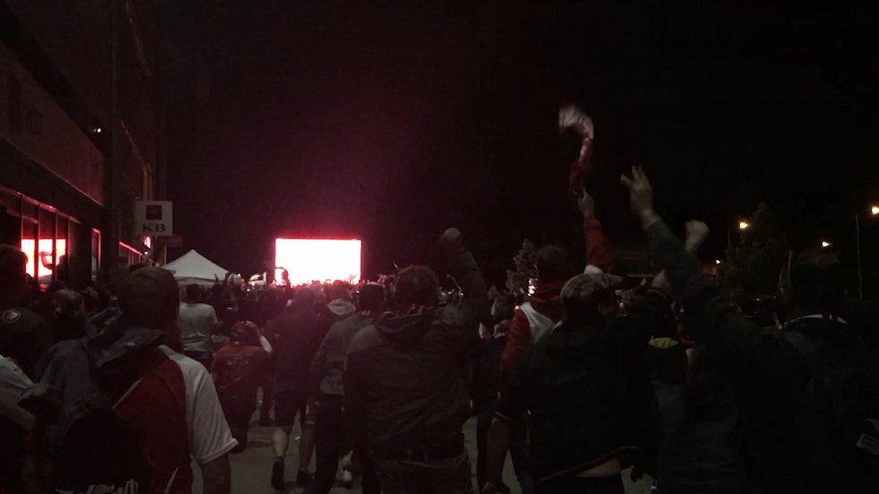 Fanoušci Slavie Praha slaví titul mistra ligy
