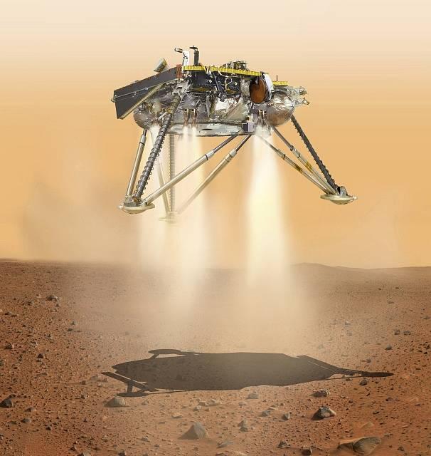 Sonda InSight na Marsu.