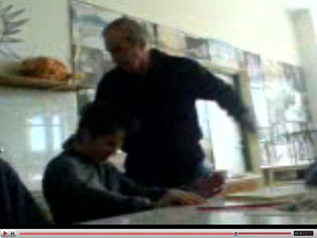 Snímek z videozáznamu uveřejněného na internetu