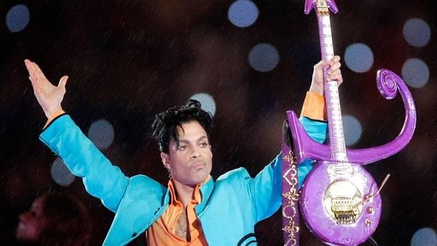 Americký zpěvák a multiinstrumentalista Prince.