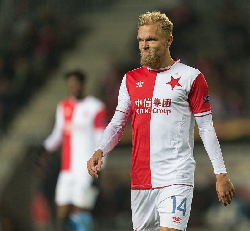 SK Slavia Praha vs. KRC Genk. Na snímku Mick Van Buren.