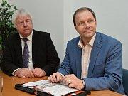 Ministr školství,mládeže a tělovýchovy Marcel Chládek navštívil Univerzitu Jana Amose Komenského na Praze 3 za doprovodu rektora Luboše Chaloupky.
