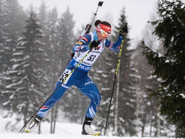Veronika Vítková ve vytrvalostním závodu na mistrovství světa.