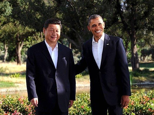Prezident Obama se svým čínským protějškem Si Ťin-pchingem