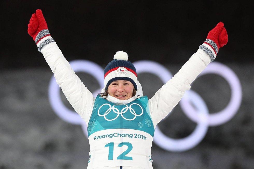 Biatlonistka Veronika Vítková stupních vítězů.