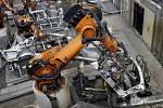 Roboti, které jsou k vidění ve výrobě automobilů
