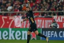 Olympiakos - Arsenal: Olivier Giroud a jeho radost z gólu