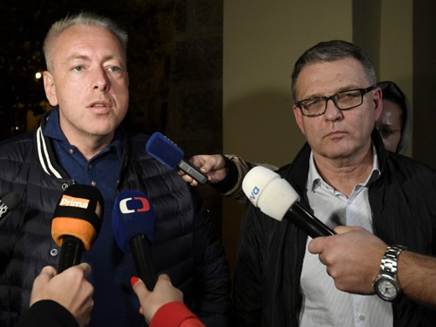 Lubomír Zaorálek (vpravo) a Milan Chovanec.