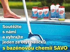 Soutěžte s Deníkem a vyhrajte balíček s bazénovou chemií Savo!