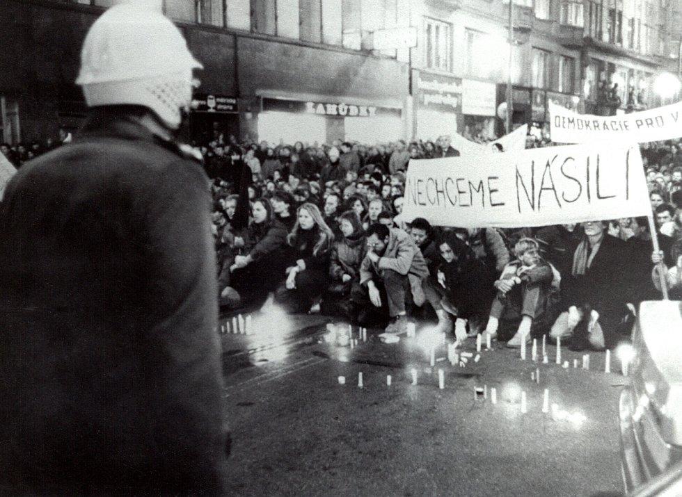 Národní, listopad 89