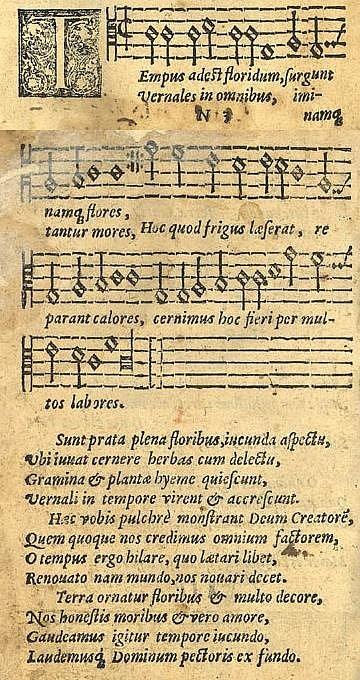 Anonymní latinská skladba Tempus adest floridum