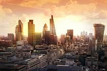 Londýnské City, místo, kde sídlí světové finanční instituce.