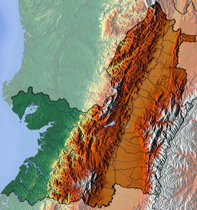 Tato oblast se vyznačuje vysokými a zrádnými horami