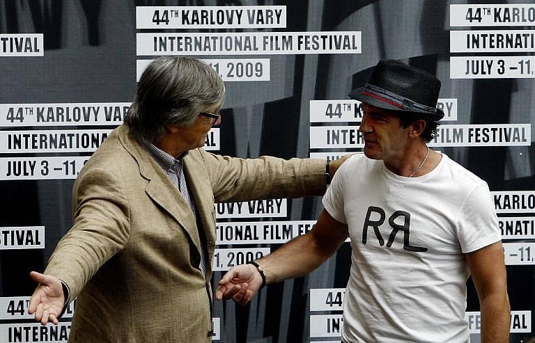 Antonio Banderas a Jiří Bartoška