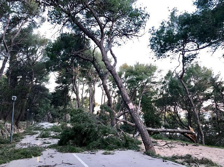 Vichřice pustošila Itálii a Chorvatsko